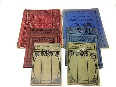 Collection of 6 1920s School Textbooks -including Geography