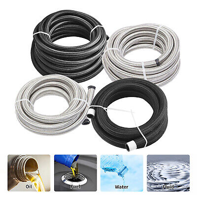 Nylon and Stainless Steel Braided Fuel Oil Gas Line Hose AN4/AN6/AN8/AN10/AN12