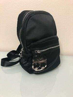 cb7b5847f6 NEW STEVE MADDEN-BACKPACK/BOOKBAG- Black, Satin, Small- BNWT ...