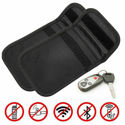 2X Car Key Fob Signal Blocker Keyless Entry Guard Protector Pouch Faraday Bag UK