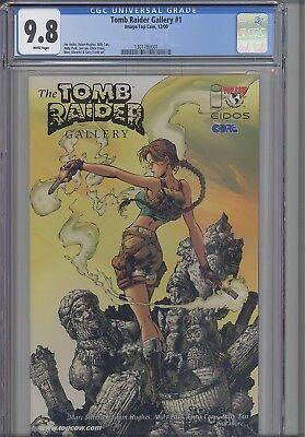 Tomb Raider Gallery #1  CGC 9.6 1999 Top Cow Laura Croft Comic: NEW Frame