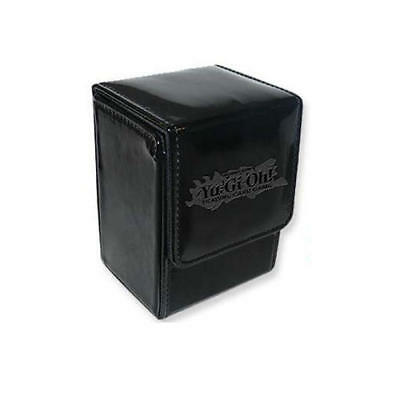 NEW Yu-Gi-Oh Black Leatherette Championship Deck Box Card Storage Case Rare