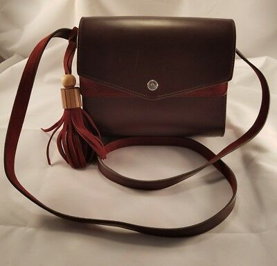 88484e6016 Elizabeth and James Cranberry Eloise Leather Suede Field Crossbody Bag