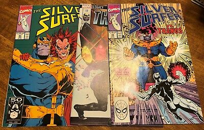 SILVER SURFER #38 And #45 THANOS #17 INFINITY GAUNTLET NM
