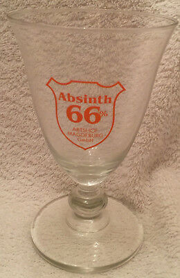 "Absinth 66% Abtshof Magdeburg GmbH German 5"" Glass New"