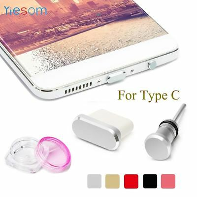 YIESOM Type C Anti Dust Plug Set USB Type-C Port and 3.5mm Earphone Jack Plug Fo