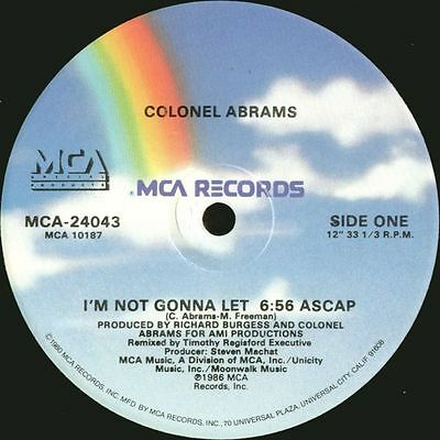 "12"" Us**colonel Abrams - I'm Not Gonna Let / One Way - You Can Do It***3187"