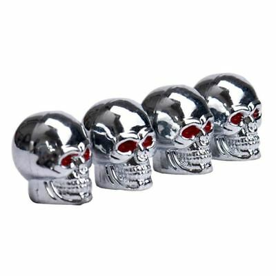 Red Eyes Skull Tyre Tire Air Valve Stem Dust Caps For Car Bicycle Truck Motocycl