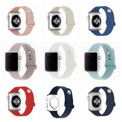 Brand Apple Watch Soft Silicone Sport Replacement iWatch Strap 42/38mm 40/44mm