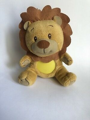 "L@@K Summer infant soother Rory the Lion, 9"" white noise music light baby toy"