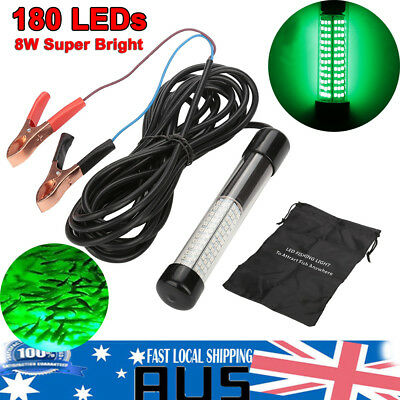 180 LED 12V Underwater Submersible Night Fishing Light Crappie Shad Squid Boat