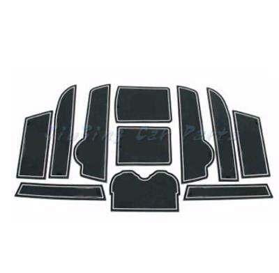 11pcs White Non-slip Slot Pad Rubber Cup Holder Mat For Cadillac SRX 2010-2015 y