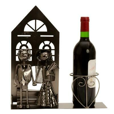 Wein Flaschenhalter Hochzeit  Metall Wedding 32 cm Bottle holder