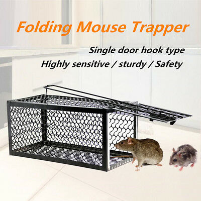 1/2x Metal Humane Live Rat Trap Cage Animal Rodent Mice Mouse Control Bait Catch