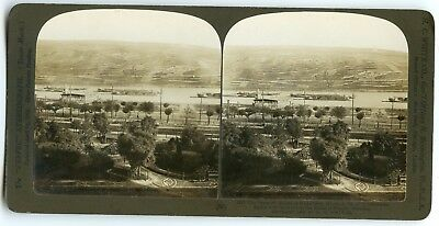 Stereoscope / Stereoview / H.c White / The Terraced Slopes Rudesheim / Germany