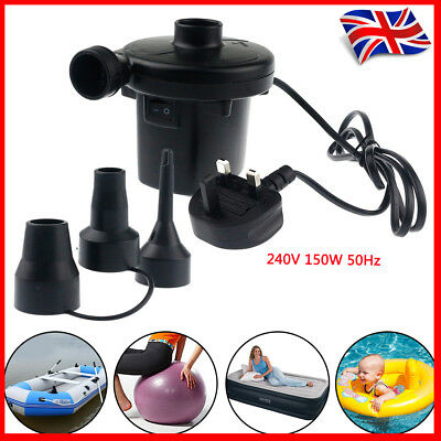 New Electric Air Pump Inflator Camping Bed AIRBED Mattress Pool 240V UK