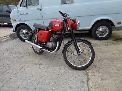 Classic Unrestored Mz Ts125 All Complete With Old Style Log Book, Running Well!!