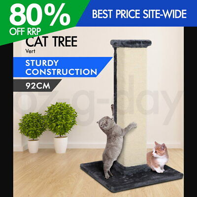 iPet Cat Scratching Tree Scratcher Post Pole Gym Sisal House Furniture 92CM