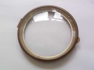 GLASS/RIM FROM A  MANTLE CLOCK  OUTER 5 3/8 inch diam