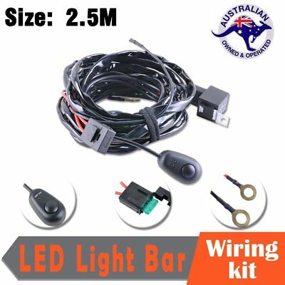 LED Work Light Bar Wiring HID Driving Loom Harness Switch Relay Kit 12V 40A AU
