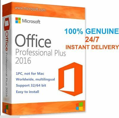 INSTANT 1 Min delivery Microsoft Office 2016 Professional Plus License Key