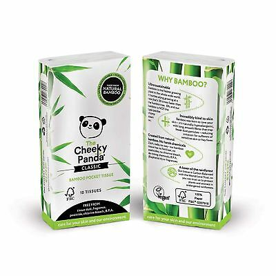 Cheeky Panda 100% Bamboo Pocket Tissue 10 Tissues Per Pack (Pack of 8)