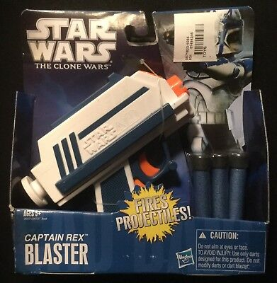 Star Wars The Clone Wars CAPTAIN REX BLASTER NERF Gun Hasbro 2010 New in Box