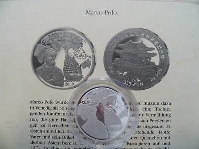 Korea - 350 Won - 2009 - PP - 999 Silber - Marco Polo