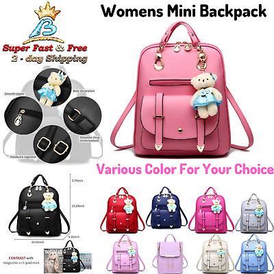 Small Cute Backpack Purse For Women Girls Mini Travel Daypack Casual School Bag