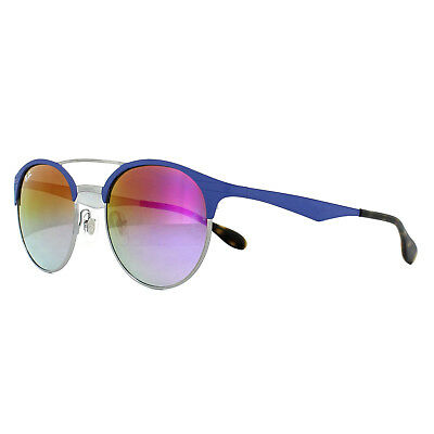 cd5b4f10bd5 Ray-Ban Sunglasses 3545 9005A9 Blue Gunmetal Violet Gradient Mirror 54mm