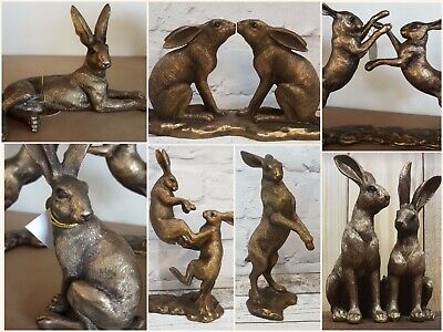 Leonardo Reflections Bronzed Bronze Wildlife Animal Ornaments- Hare, Stag, Deer