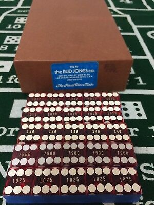 Authentic Las Vegas Palace Station Red Dice Set of 5 Used