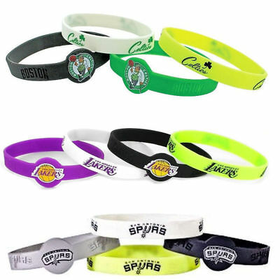 NBA bracelet rubber wrist fan band 4 PACK silicone PICK YOUR TEAM