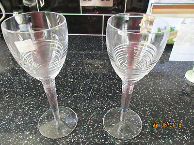 Pair Of Boxed Waterford Crystal Jasper Conran Strata Goblets