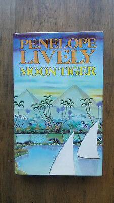 Penelope Lively – Moon Tiger (1st UK hb with dw) SIGNED Booker winner 1987