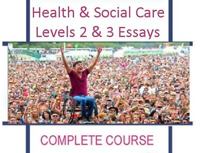 Hsc Qcf Nvq Svq Health Social Care Level 2 3 Full Course Essay Examples Help