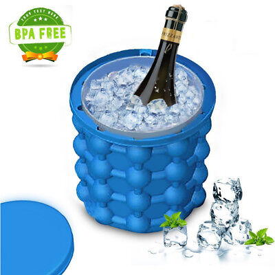 Magic Ice Cube Maker Genie Space Saving Silicone Ice Bucket Trays for Chilling