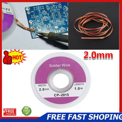 1/2/5/10pcs 2.0mm Desoldering Braid Solder Remover Sucker Flux Wick Cable Wire