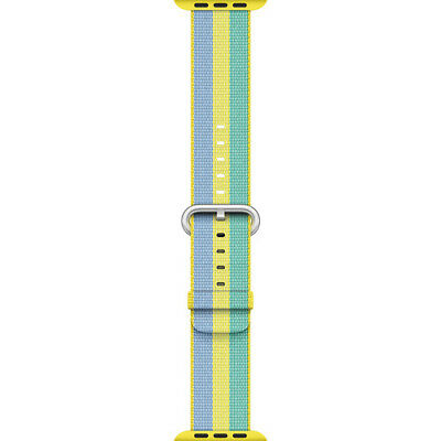 Apple Mpvy2Am/a 38Mm Pollen Woven Nylon Stainless Steel Buckle Watch Band