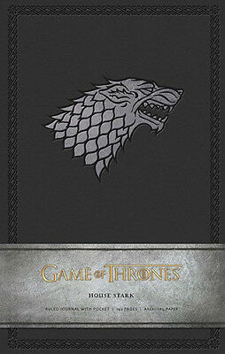 Game of Thrones, House Stark, Ruled Hardcover Pocket Journal, 192 Pages