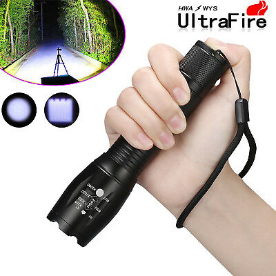Tactical Zoomable 20000LM Flashlight 5 Mode LED T6 LED Light Torch Lamp Focus