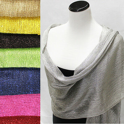 Glitter Sparkle Evening Scarf Sequin Style Shawl Wedding Party Club Wrap Fringe