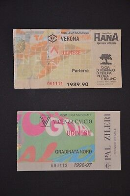 Lotto biglietto ticket stadio Udinese Verona Vicenza no Milan Inter Juventus
