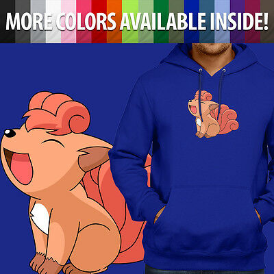 Pokemon Vulpix Cute Fox Character Anime Cartoon Pullover Hoodie Hooded Sweater