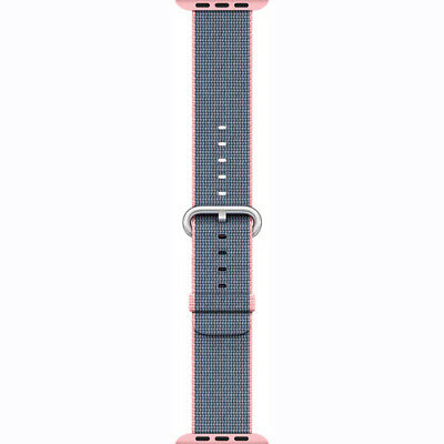 Apple Mnk62Am/a 38Mm Pink Midnight Blue Stainless Steel Buckle Woven Watch Band