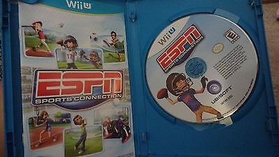 ESPN Sports Connection - Nintendo Wii U rare Video Game WiiU Sports COMPLETE