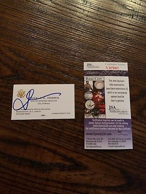 KAMALA HARRIS Autographed Official Business Card CA SENATOR PRESIDENT 2020 PROOF