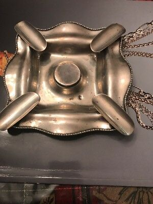 Woodside Sterling Late 1800's Sterling Silver Four Mounted Cigar Ashtray