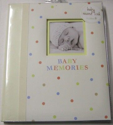 Memory/Record Book By Pearhead, Inc., Girl, Pale Yellow W/Polka Dot Design, New