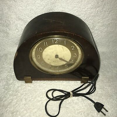 Antique Seth Thomas Wood Alarm Shelf Chime Clock Catalog 3715 PARTS NOT WORKING